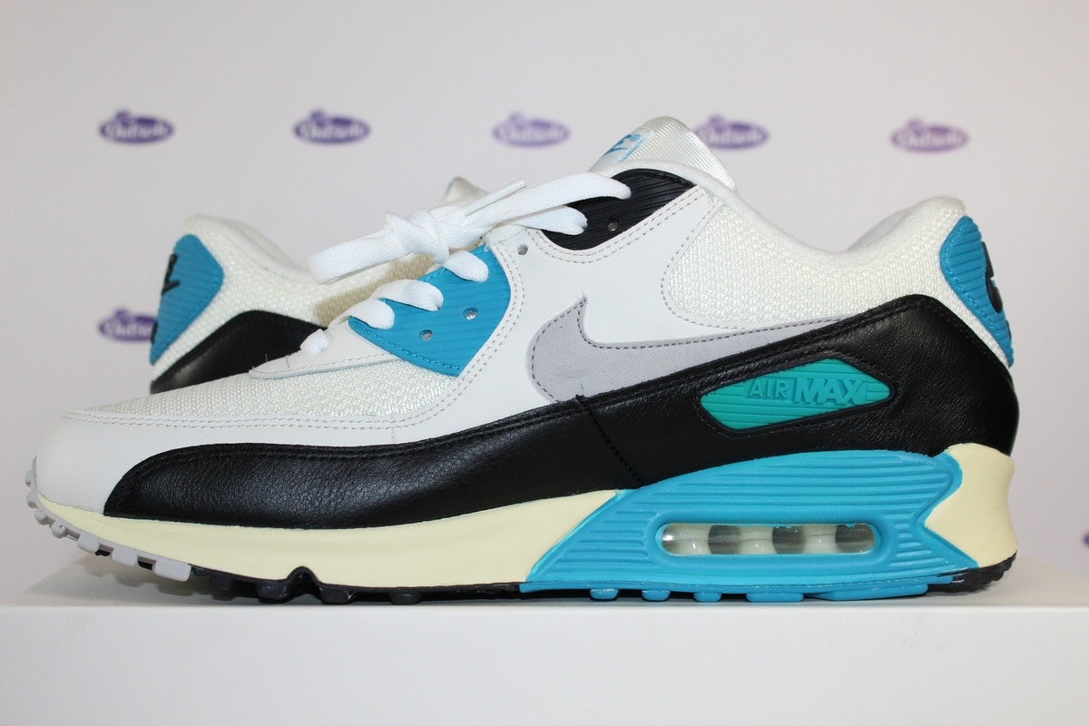 nike air max 90 laser pink blue gray and white