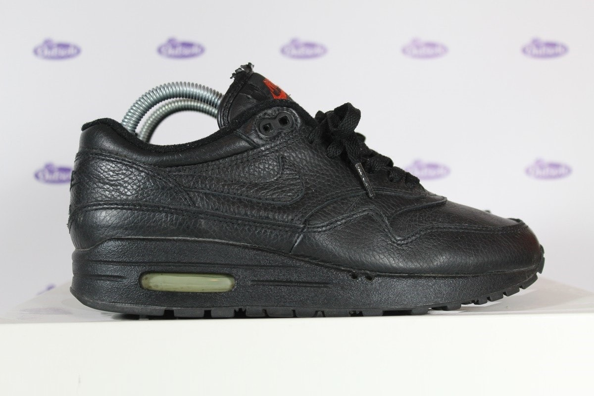 brand new abdcf 6e48c Nike Air Max 1 All Black Leather 1999