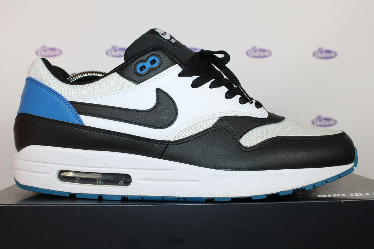 nike air max 1 premium id black and blue outsole. Black Bedroom Furniture Sets. Home Design Ideas