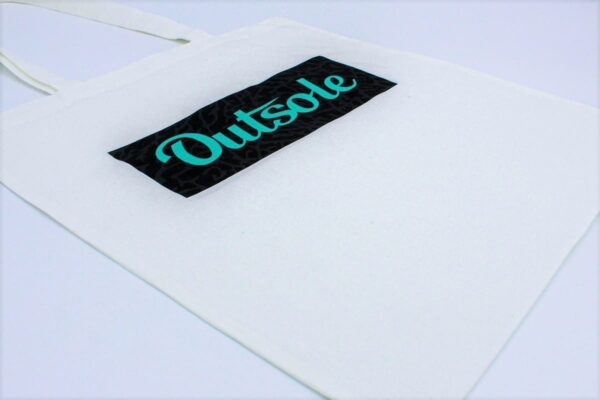 Outsole tote bag Elephant Jade Black White 1 600x400 - Outsole tote bag - White