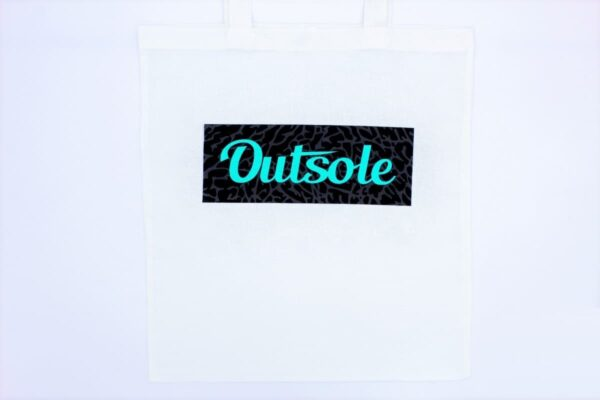 Outsole tote bag Elephant Jade Black White 2 600x400 - Outsole tote bag - White