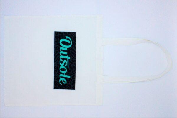 Outsole tote bag Elephant Jade Black White 3 600x400 - Outsole tote bag - White