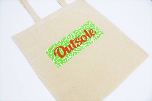 Outsole tote bag Elephant Orange Lime Beige 1 600x400 - Outsole tote bag - Beige