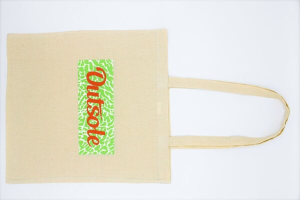 Outsole tote bag Elephant Orange Lime Beige 2 600x400 - Outsole tote bag - Beige