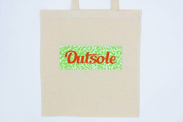 Outsole tote bag Elephant Orange Lime Beige 600x400 - Outsole tote bag - Beige