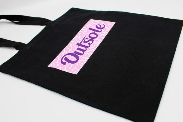 Outsole tote bag Elephant Purple Pink Black 2 600x399 - Outsole tote bag - Black