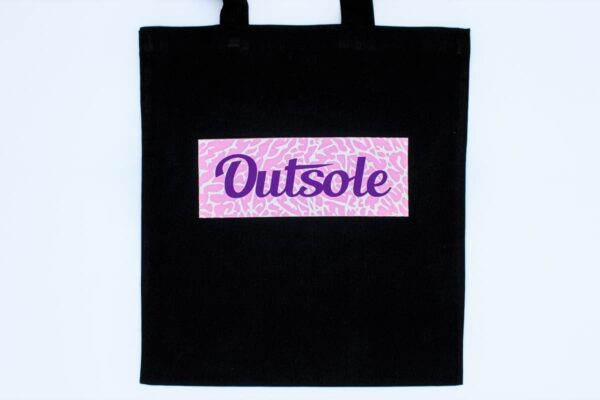 Outsole tote bag Elephant Purple Pink Black 600x400 - Outsole tote bag - Black