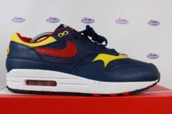 Nike Air Max 1 Premium Navy Red Yellow 7 252x167 - Nike Air Max 1 Premium Navy Gym Red