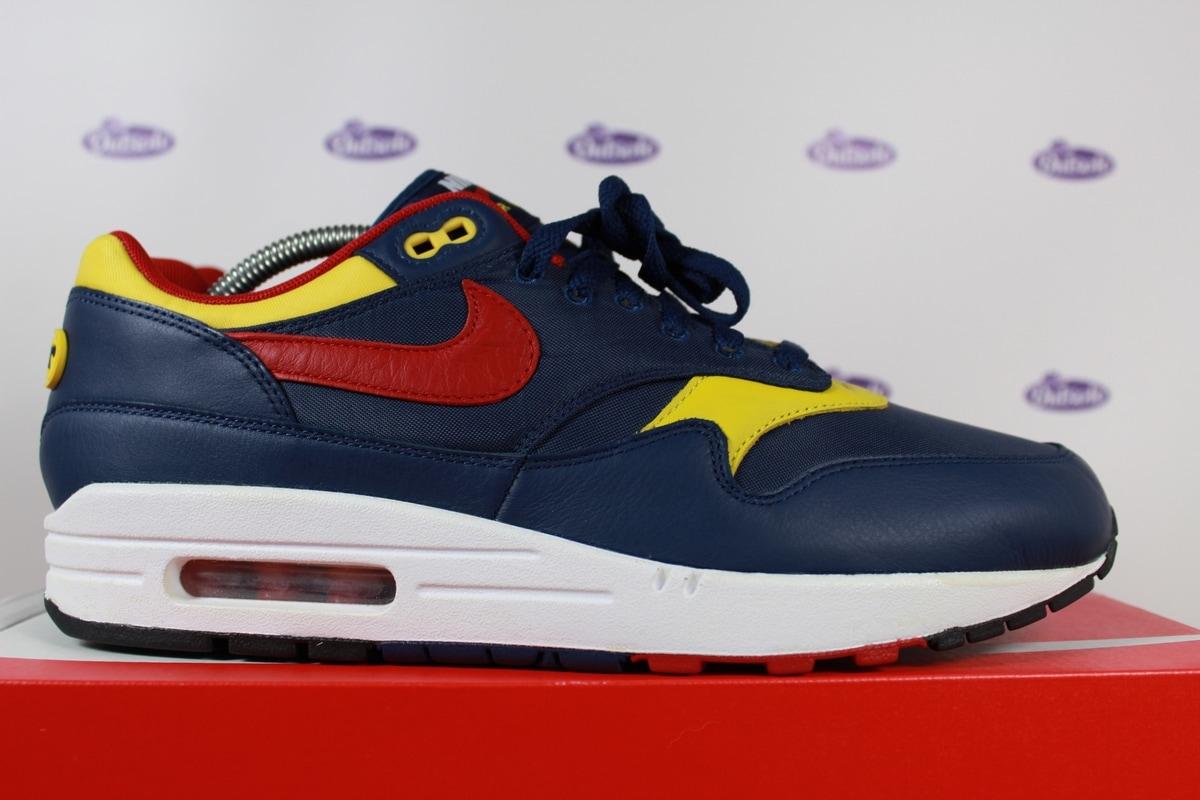 Nike Air Max 1 Premium Navy Gym Red