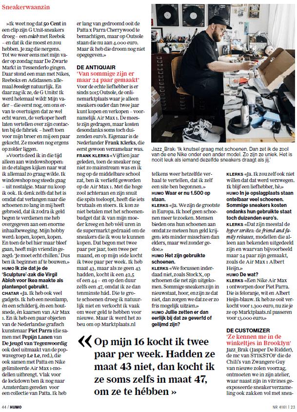 Outsole x Humo 6 - Sneakerwaanzin: een gebruikte Nike voor € 13.000 euro