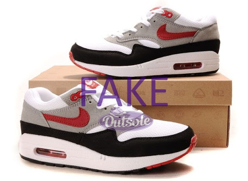 Fake counterfeit neppe Nike Air Max 1 Chili with box - Hoe herken ik een neppe, namaak of replica Nike Air Max 1 sneaker?