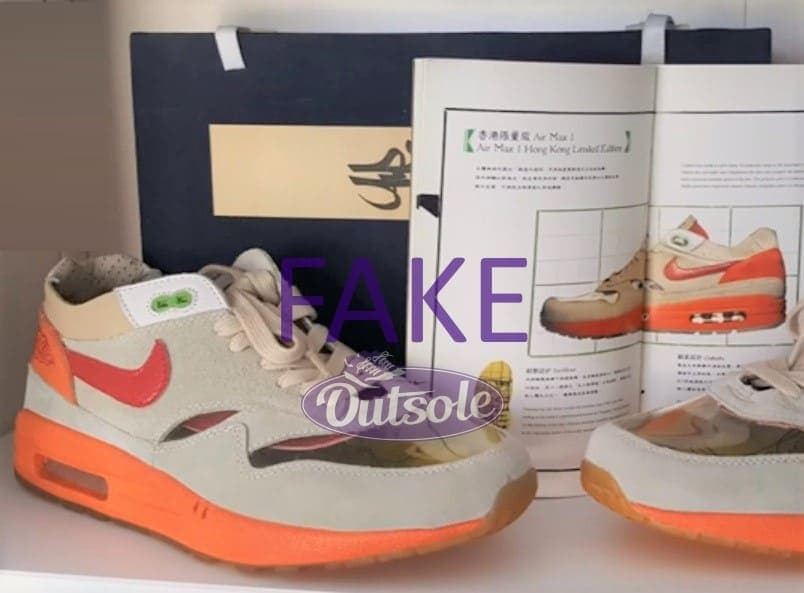 Fake counterfeit neppe Nike Air Max 1 Clot Kiss of Death special box - Hoe herken ik een neppe, namaak of replica Nike Air Max 1 sneaker?