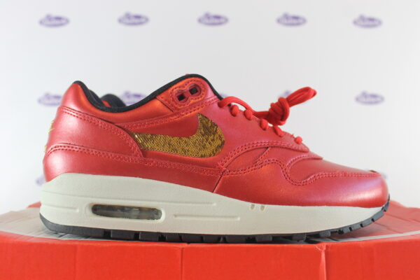 nike air max 1 red gold sequin 375 1 600x400 - Nike Air Max 1 Red Gold Sequin