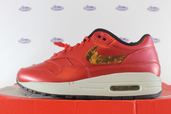 nike air max 1 red gold sequin 375 2 600x400 - Nike Air Max 1 Red Gold Sequin