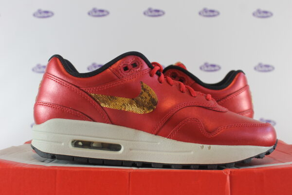 nike air max 1 red gold sequin 375 5 600x400 - Nike Air Max 1 Red Gold Sequin