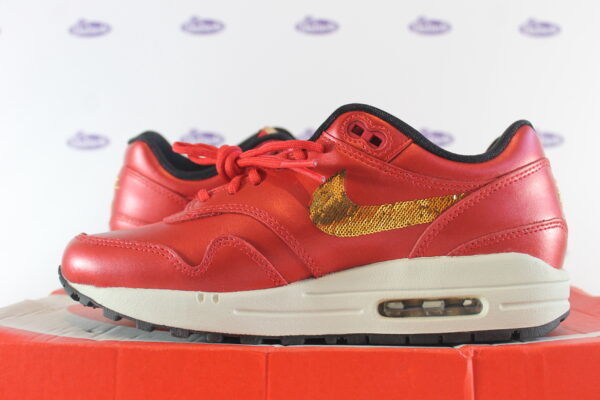 nike air max 1 red gold sequin 375 6 600x400 - Nike Air Max 1 Red Gold Sequin