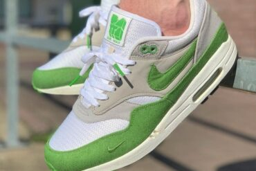 WOMFT WIVAH Outsole Nike Air Max 1 Patta Premium QS Chlorophyll Green 1 e1625777264351 370x247 - How to lace up up your Nike Air Max 1 sneakers?