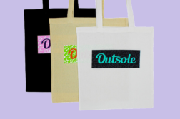Outsole tote bags